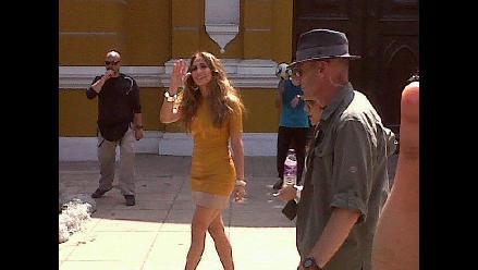 Jennifer Lopez pasea por Barranco durante su visita en el Perú
