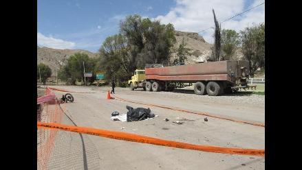 Arequipa: Un muerto y un herido dejó accidente de tránsito en Yura