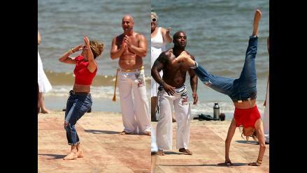 Jennifer Lopez deslumbra en Uruguay con baile de capoeira