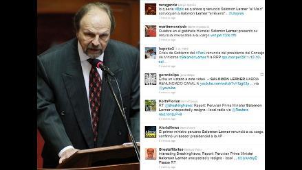 Twitter: Vea las reacciones que produjo la renuncia de Salomón Lerner