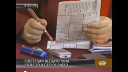 Magistrada del Poder Judicial jugó sudoku en juicio a Carlos Raffo