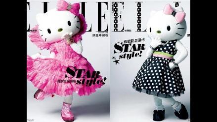 Hello Kitty en la portada de la edición taiwanesa de la revista Elle