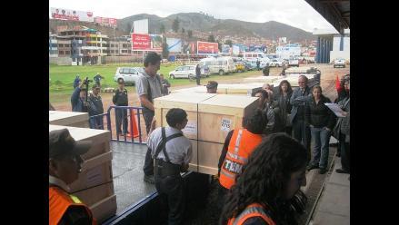 Llegaron al Cusco 26 cajas con osamentas de Machu Picchu