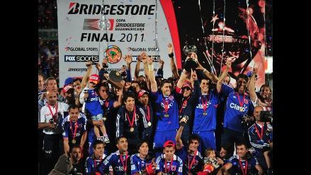 Así celebró la ´U´ de Chile la obtención de la Copa Sudamericana