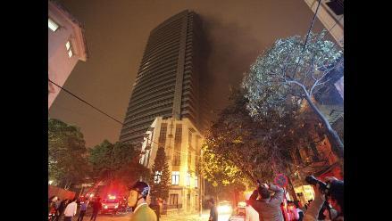 Incendio en las Torres Gemelas de Vietnam