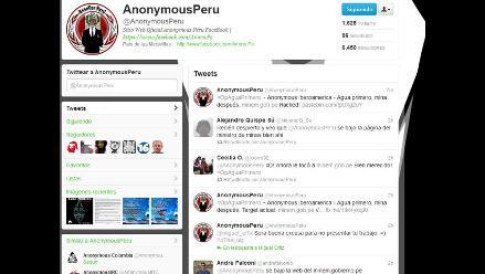 Anonymous ataca la página web del Ministerio de Energía y Minas