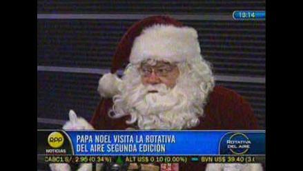 Ya llegó la Navidad: Papá Noel de Coca Cola visita RPP Noticias