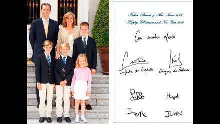 Iñaki Urdangarín aparece en felicitación navideña de la Casa Real