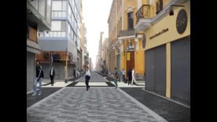 Así quedará el nuevo paseo peatonal en el Centro Histórico de Lima