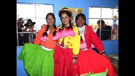 Nadine Heredia expresa compromiso del Gobierno con obra de Amalia Suaña