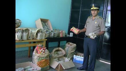 Chiclayo: Decomisan siete mil unidades de artefactos pirotécnicos