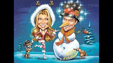 Fergie le desea feliz Navidad a sus fanáticos con peculiar postal
