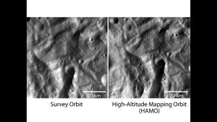 NASA se acerca al asteroide Vesta y registra reveladoras imágenes