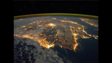 La península ibérica de noche, elegida imagen del día por la NASA