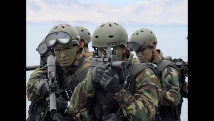 Así es el entrenamiento en la infantería de la Marina de Guerra