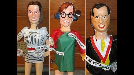 Muñecos de políticos y personajes para Año Nuevo rayan en Mesa Redonda