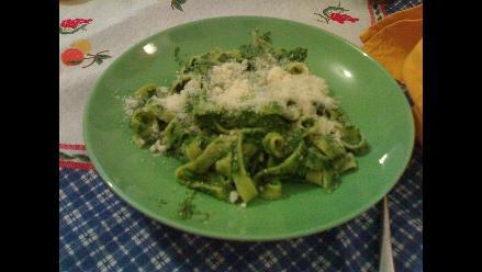 La receta del día: tallarín verde con huevo
