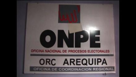 Solo compraron un kit para revocatoria de autoridades en Arequipa