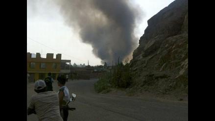 Alerta en Chosica por explosión en planta de gas de Carapongo