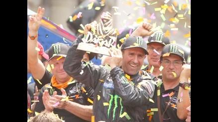 Así festejaron los vencedores del Rally Dakar en Plaza de Armas de Lima