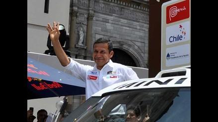 Ollanta Humala recibe al Dakar en la Plaza de Armas