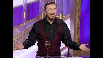 Ricky Gervais se moderó en los Globos de Oro