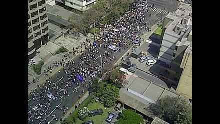 San Isidro: Manifestación genera congestión en Canaval y Moreyra