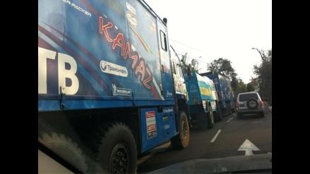 Congestión vehicular por retirada de vehículos del Dakar 2012