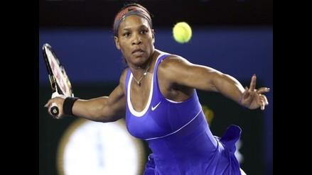 Tenista Serena Williams arrancó ganando su primer juego del 2012