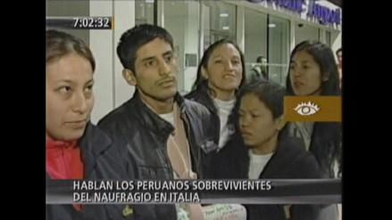 Declaraciones de peruanos sobrevivientes del naufragio de Italia