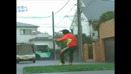 Shunsuke Nakamura ejecuta magnífico tiro libre al estilo Supercampeones