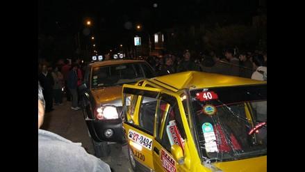 Cuádruple choque en Panamericana Sur complica el tránsito