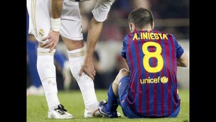 Andrés Iniesta tendrá tres semanas de para tras lesionarse en clásico