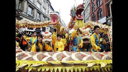 Reino Unido se unió a celebraciones por llegada del Año del Dragón