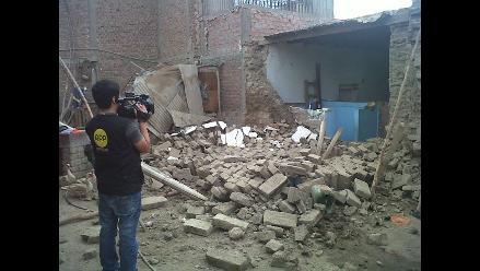 Vivienda se queda sin techo en la localidad de Guadalupe por sismo
