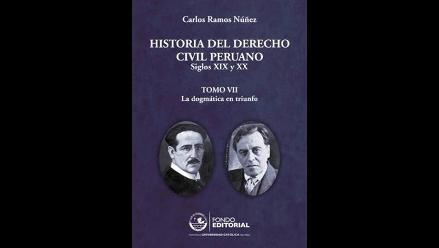 Publican sétimo tomo de la Historia del Derecho Civil Peruano