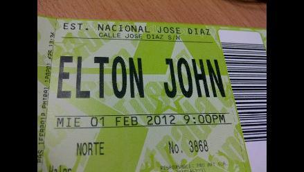 ¡Entradas listas! Peruanos se preparan para el concierto de Elton John