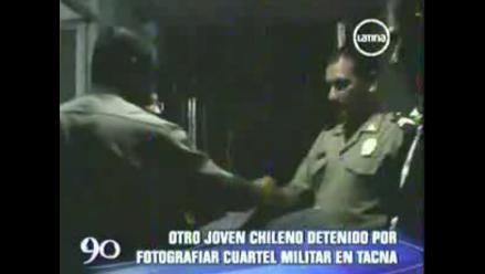 Detienen a otro joven chileno por fotografiar cuartel militar en Tacna