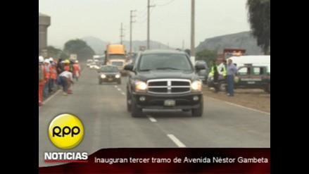 Inauguran tramo N°3 de avenida Nestor Gambeta