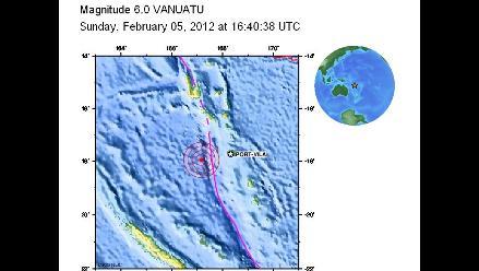Fuerte sismo sacude islas de Vanuatu en el Pacífico Sur