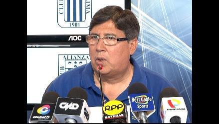 Guillermo Alarcón: Alianza Lima no le teme a Libertad y saldrá a ganar