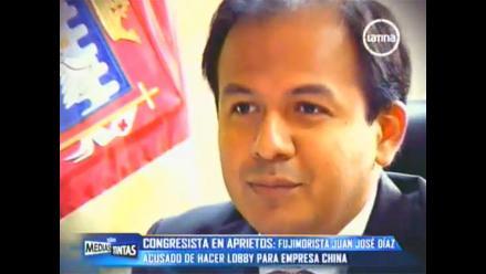 Congresista Díaz Dios es acusado de hacer lobby para empresa china