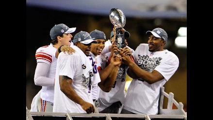 Así celebraron los Giants de Nueva York el título del Super Bowl
