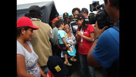Primera Dama de la Nación participa de campaña médica en Pisco