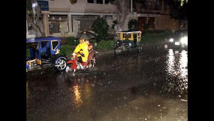 Lluvia de regular intensidad se registra en toda la región Piura