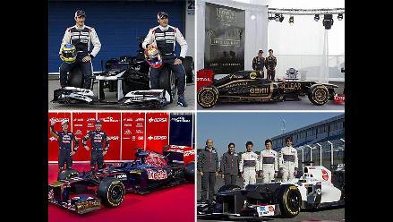 Escuderías de Fórmula Uno presentaron sus equipos para mundial 2012