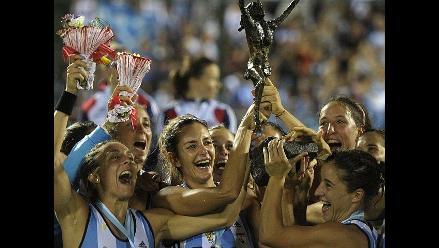 Así festejaron las bellas seleccionadas argentinas tras ganar el título