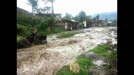 Desborde del río Huantán arrasa con puentes y casas en Yauyos