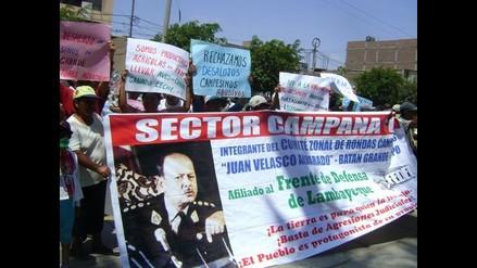 Lambayeque: Pobladores protestan rechazando orden de desalojo