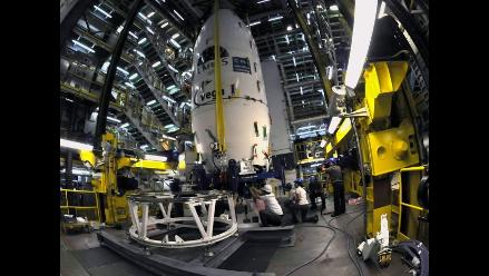 Todo listo para el lanzamiento del nuevo cohete europeo Vega